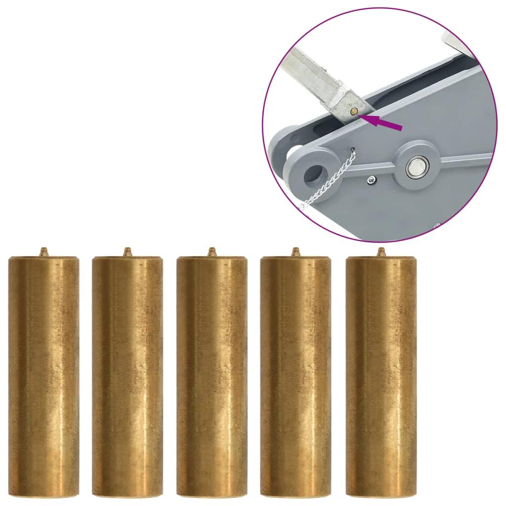 vidaXL Strižné kolíky pre lanový kladkostroj 800 kg 5 ks mosadzné