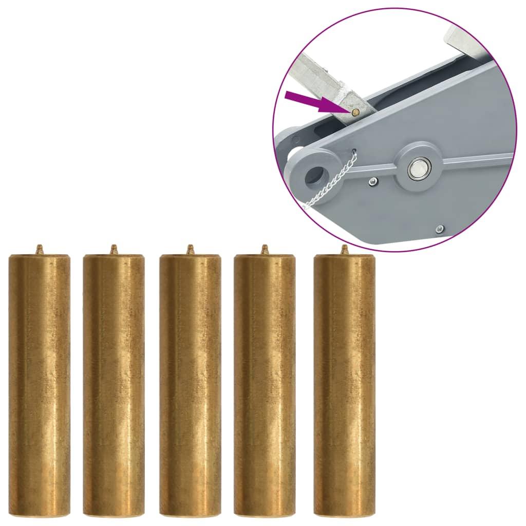 vidaXL Strižné kolíky pre lanový kladkostroj 1600/3200 kg 5 ks mosadzné
