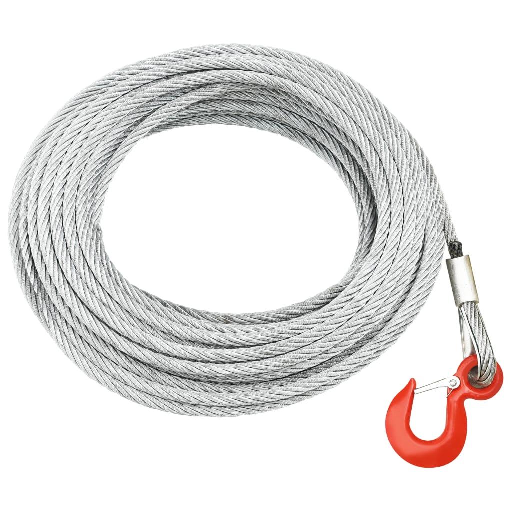 vidaXL Oceľové lano 800 kg 20 m