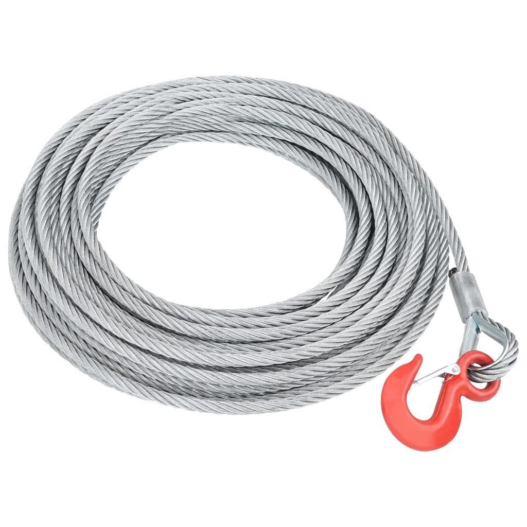 vidaXL Oceľové lano 1600 kg 20 m