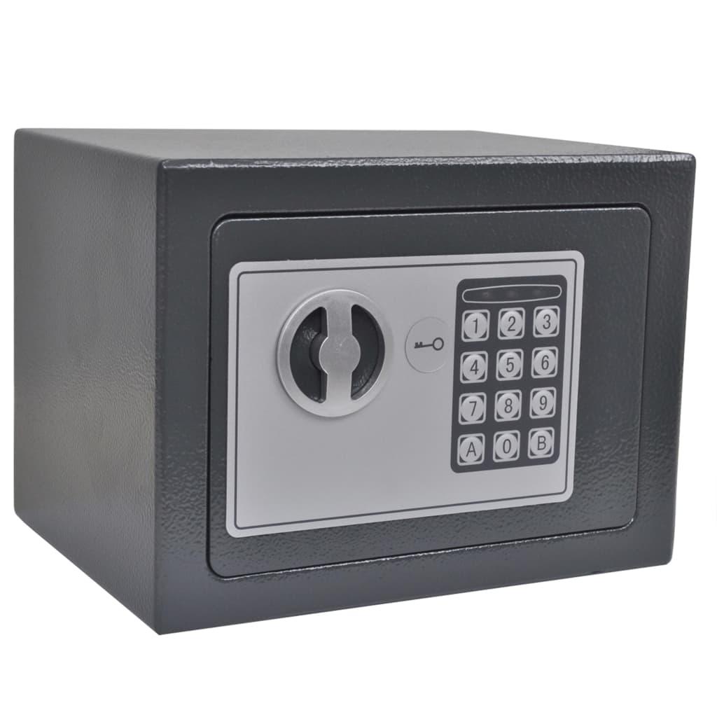 vidaXL Elektronický digitálny trezor 23x17x17 cm