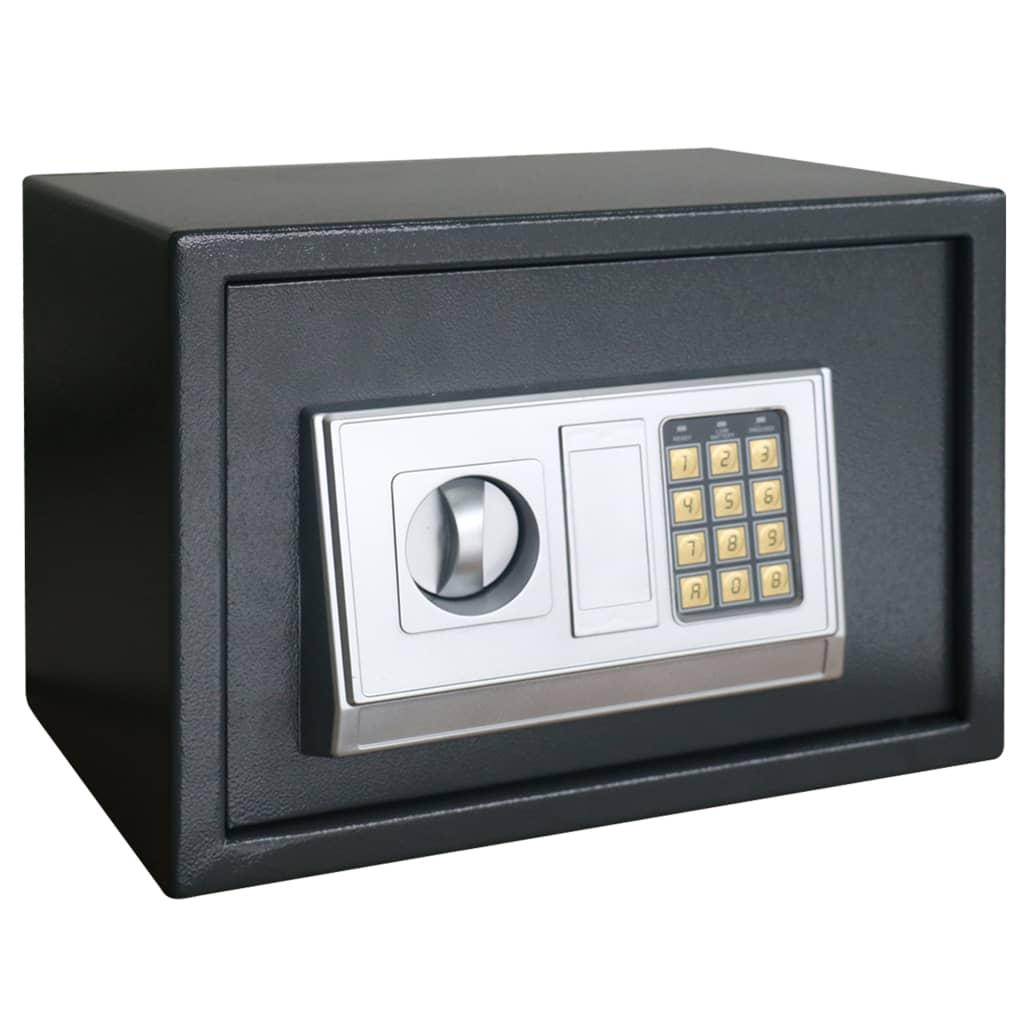 vidaXL Elektronický digitálny trezor s poličkou 35x25x25 cm