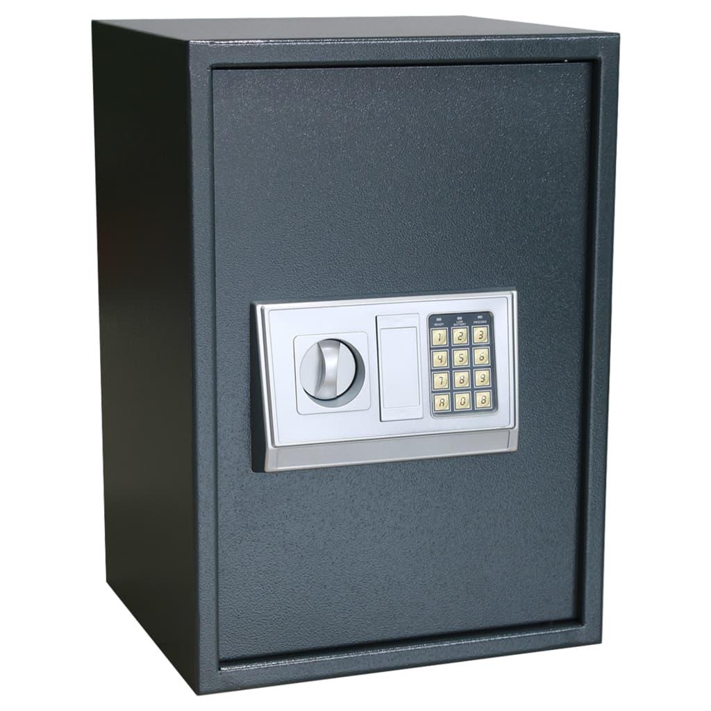 vidaXL Elektronický digitálny trezor s poličkou 35x31x50 cm