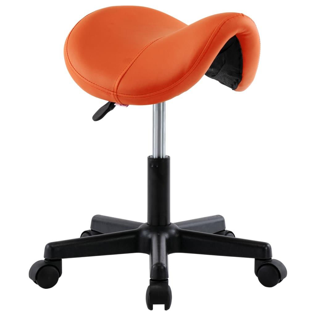 vidaXL Pracovná stolička oranžová umelá koža
