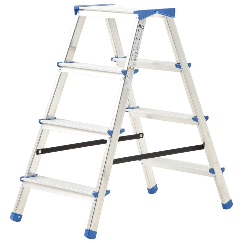 vidaXL 4-stupňový hliníkový obojstranný rebrík 90 cm