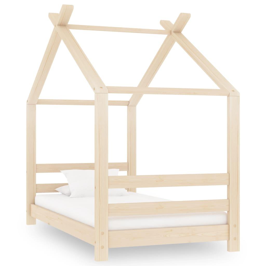 vidaXL Rám detskej postele 70x140 cm borovicový masív