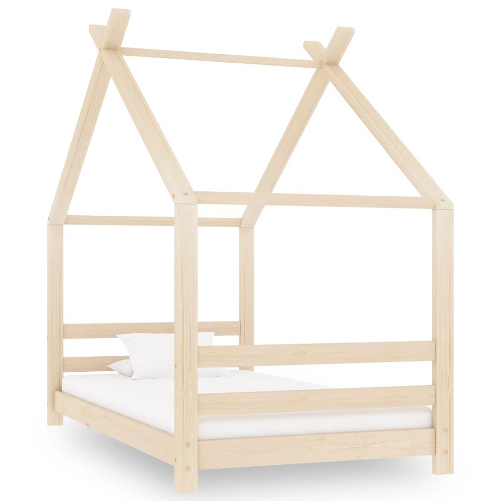 vidaXL Rám detskej postele 80x160 cm borovicový masív
