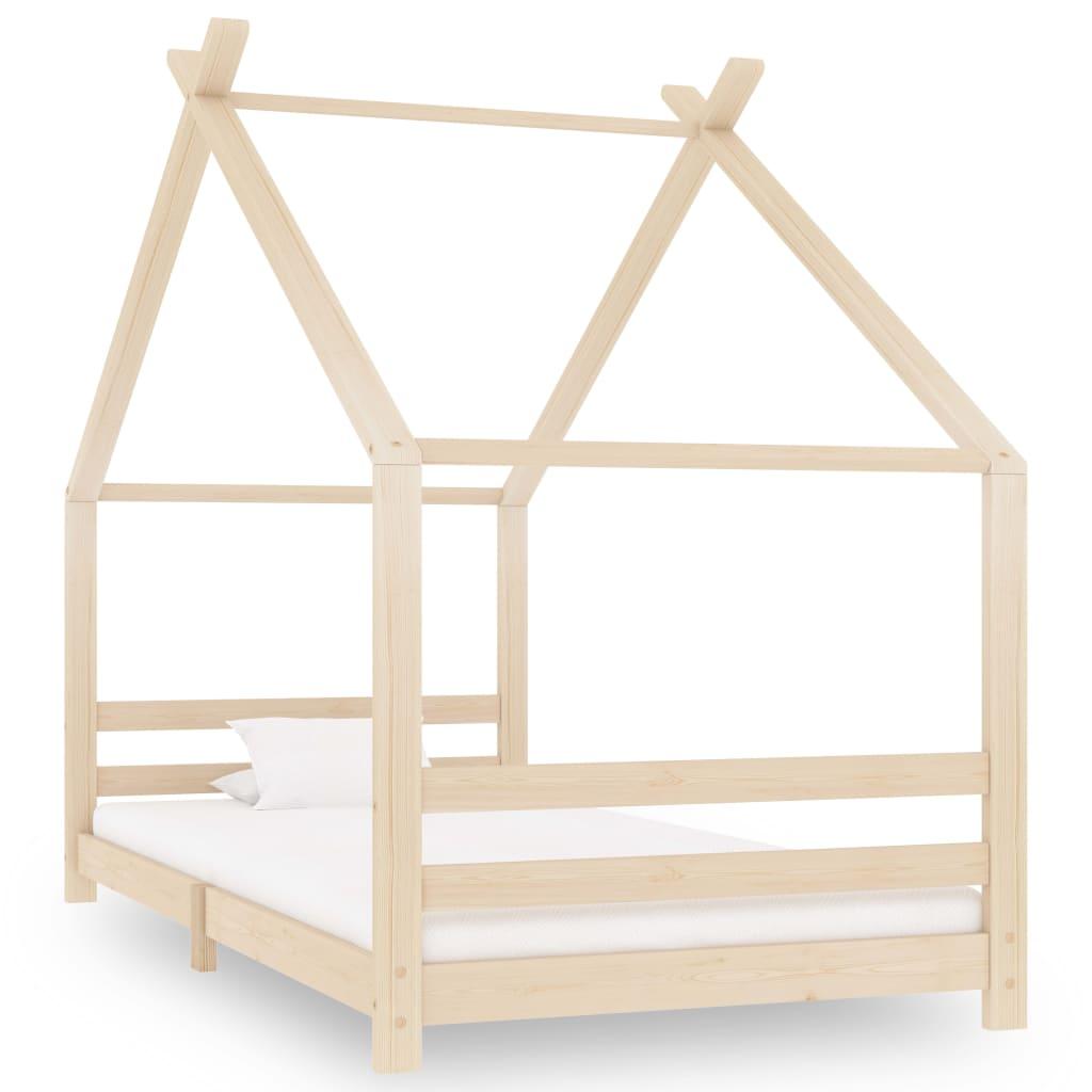 vidaXL Rám detskej postele 90x200 cm borovicový masív