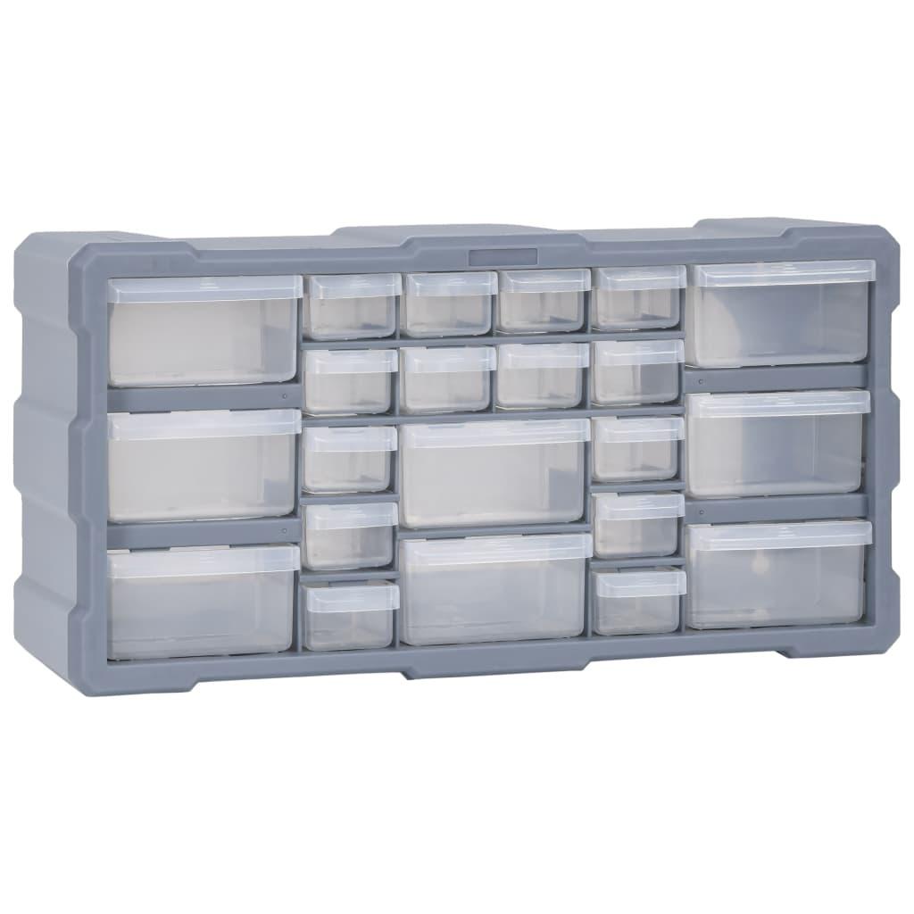 vidaXL Organizér s 22 zásuvkami 49x16x25,5 cm