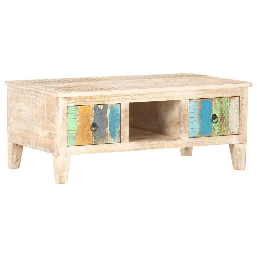 vidaXL Konferenčný stolík 100x55x40 cm, surové akáciové drevo