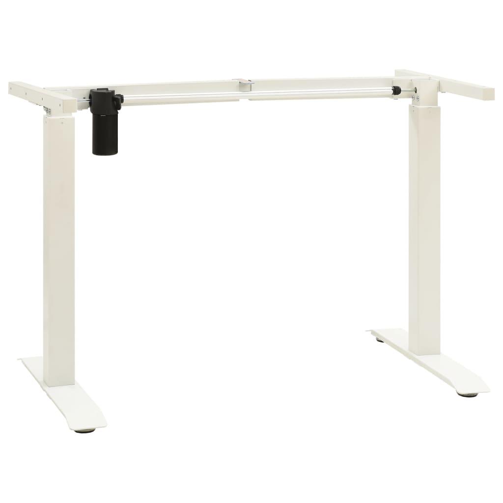 vidaXL Elektrický motorizovaný rám stola nastaviteľný biely