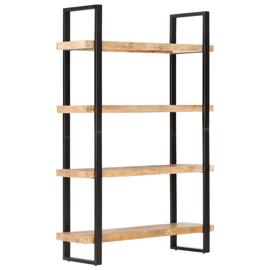 vidaXL Knižnica so 4 policami 120x40x180 cm, surové mangové drevo