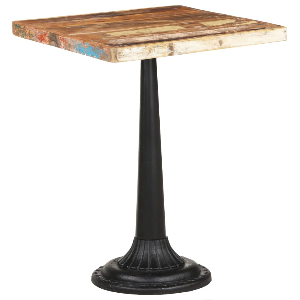 vidaXL Bistro stolík 60x60x76 cm recyklovaný masív