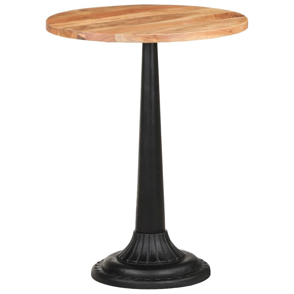 vidaXL Bistro stolík Ø60x76 cm akáciový masív