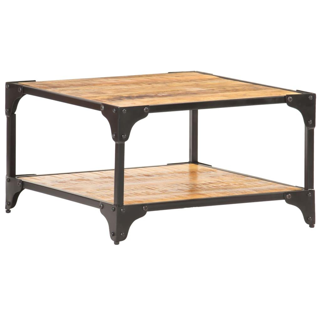 vidaXL Konferenčný stolík z mangovníkového dreva 60x60x35 cm