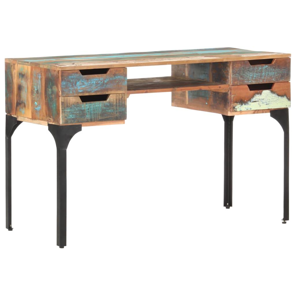 vidaXL Stôl 118x48x75 cm recyklovaný masív