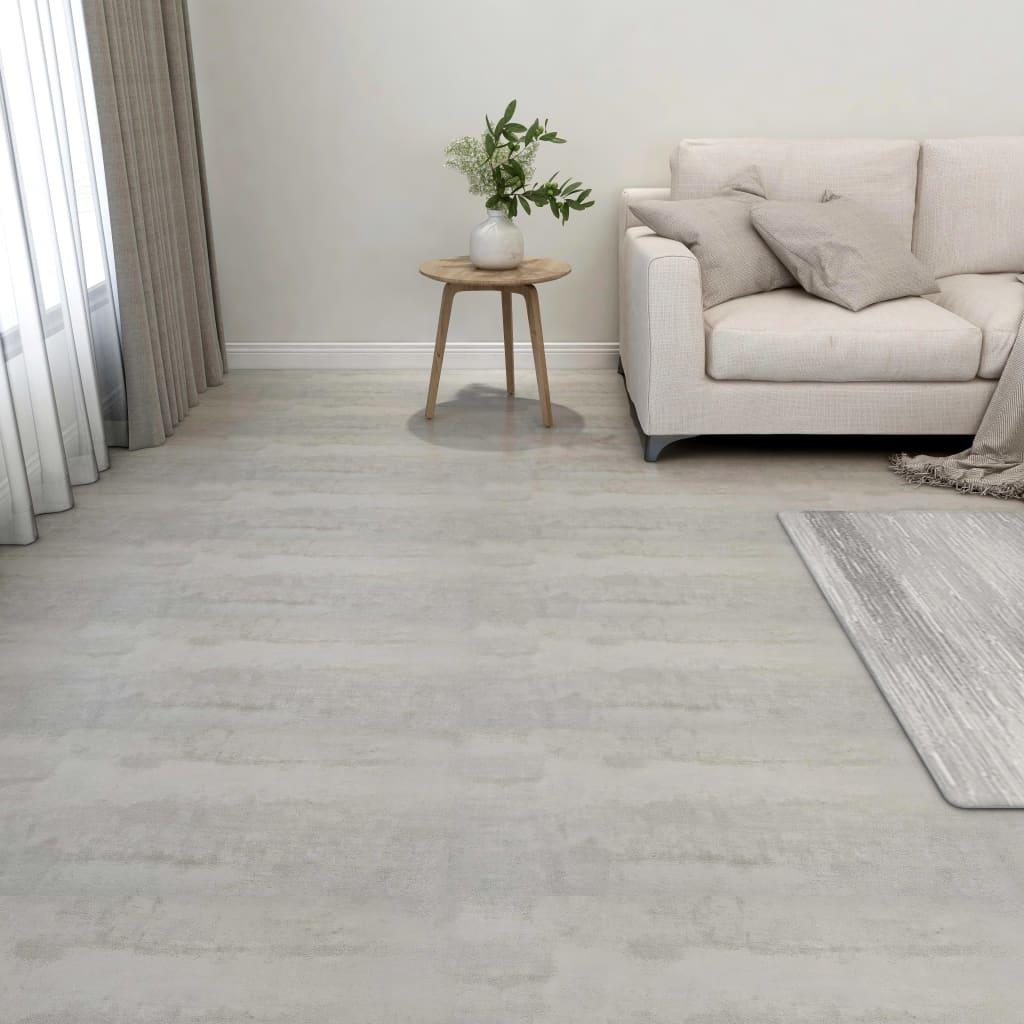 vidaXL Samolepiace podlahové dosky 55 ks, PVC 5,11 m², svetlosivé