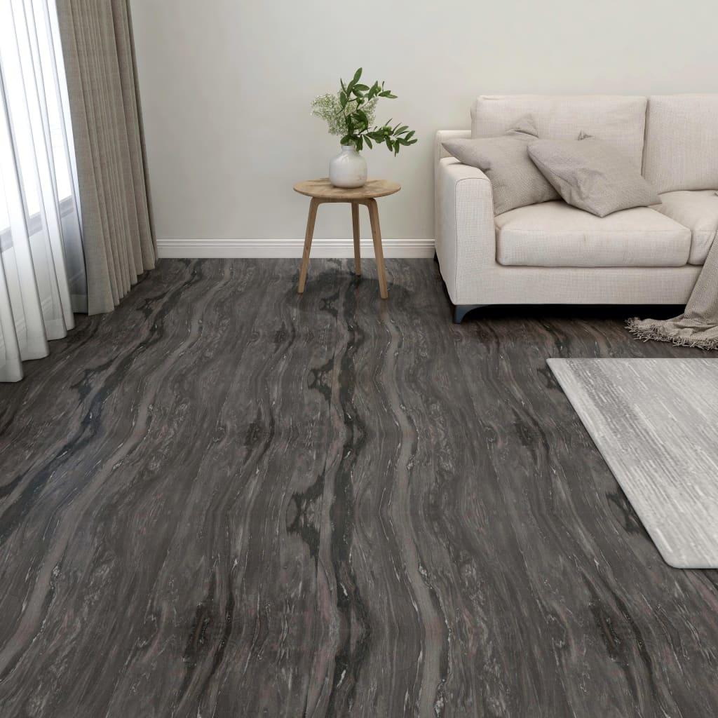 vidaXL Samolepiace podlahové dosky 55 ks, PVC 5,11 m², tmavosivé