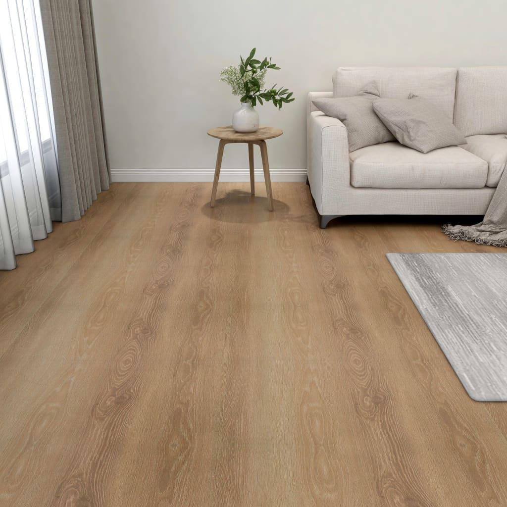 vidaXL Samolepiace podlahové dosky 55 ks, PVC 5,11 m², hnedé