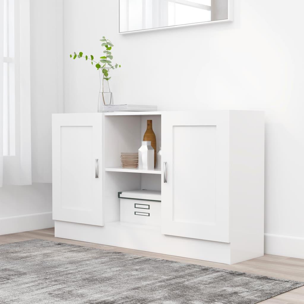 vidaXL Komoda, biela 120x30,5x70 cm, drevotrieska