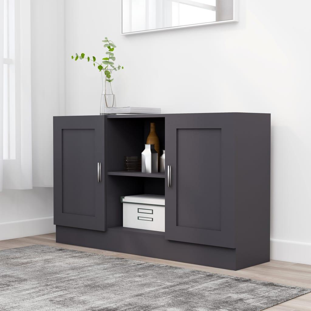 vidaXL Komoda, sivá 120x30,5x70 cm, drevotrieska
