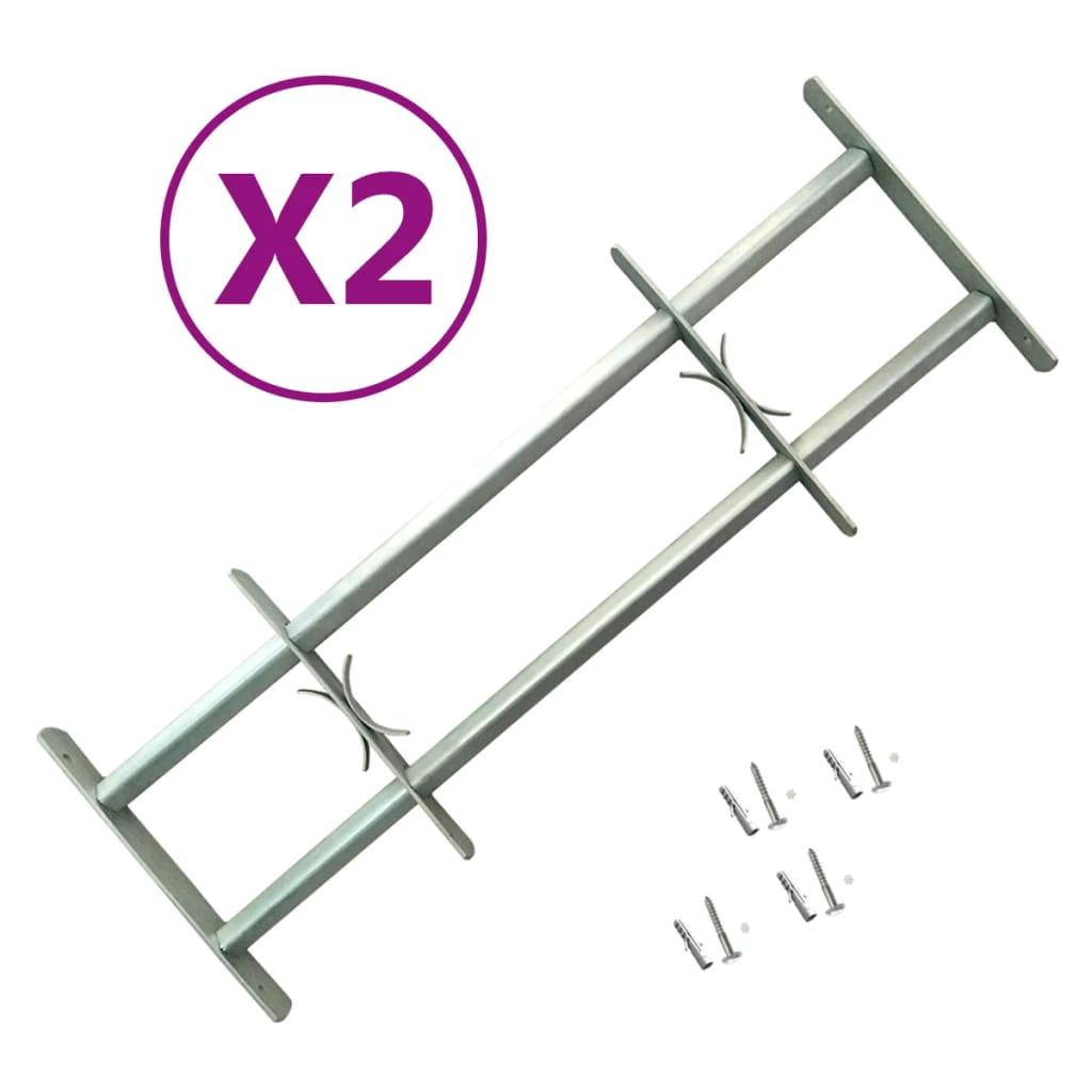 vidaXL Nastaviteľné bezpečnostné okenné mreže 2 ks 700-1050 mm