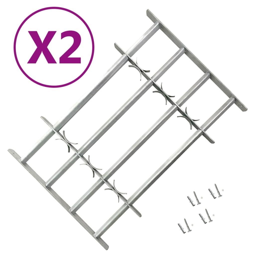 vidaXL Nastaviteľné bezpečnostné okenné mreže 2 ks 1000-1500 mm