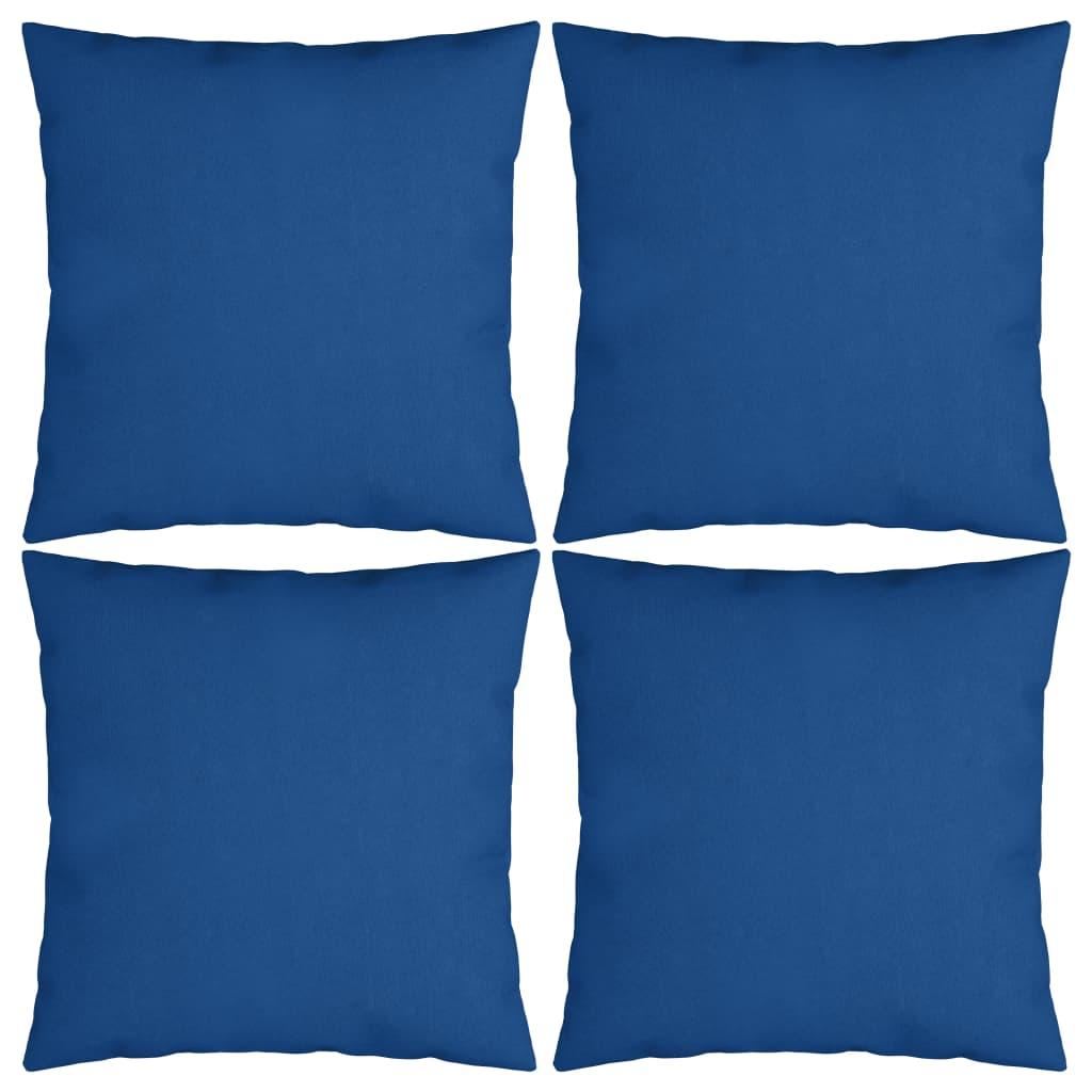 vidaXL Dekoratívne vankúše 4 ks, modré 50x50 cm, látka