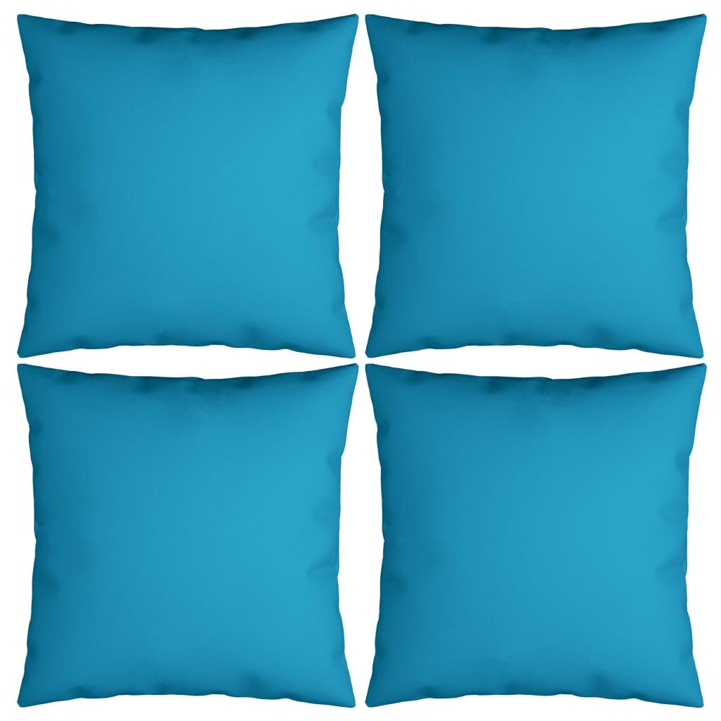 vidaXL Dekoratívne vankúše 4 ks, kráľovsky modré 50x50 cm, látka