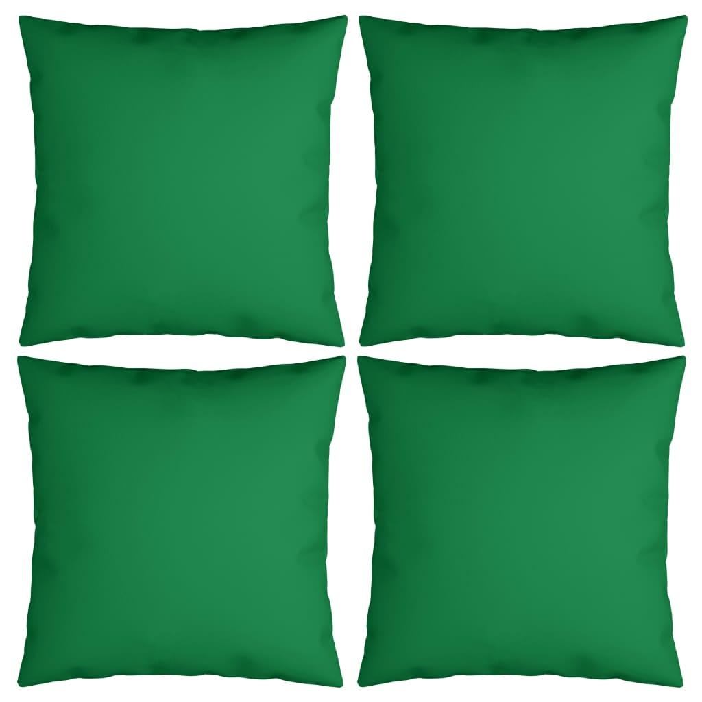 vidaXL Dekoratívne vankúše 4 ks, zelené 60x60 cm, látka