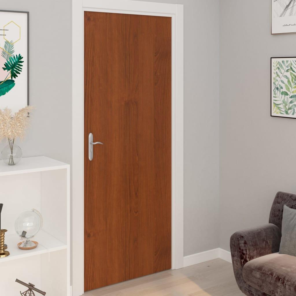 vidaXL Samolepiace tapety na dvere 4 ks, svetlý dub 210x90 cm, PVC