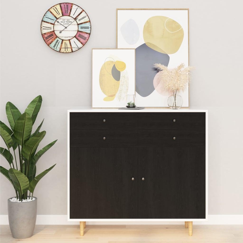 vidaXL Samolepiace tapety na nábytok 2 ks, tmavé drevo 500x90 cm, PVC