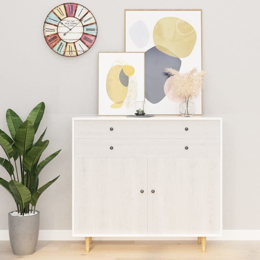 vidaXL Samolepiace tapety na nábytok 2 ks, biele drevo 500x90 cm, PVC