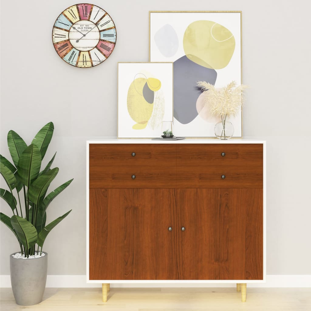 vidaXL Samolepiace tapety na nábytok 2 ks, svetlý dub 500x90 cm, PVC