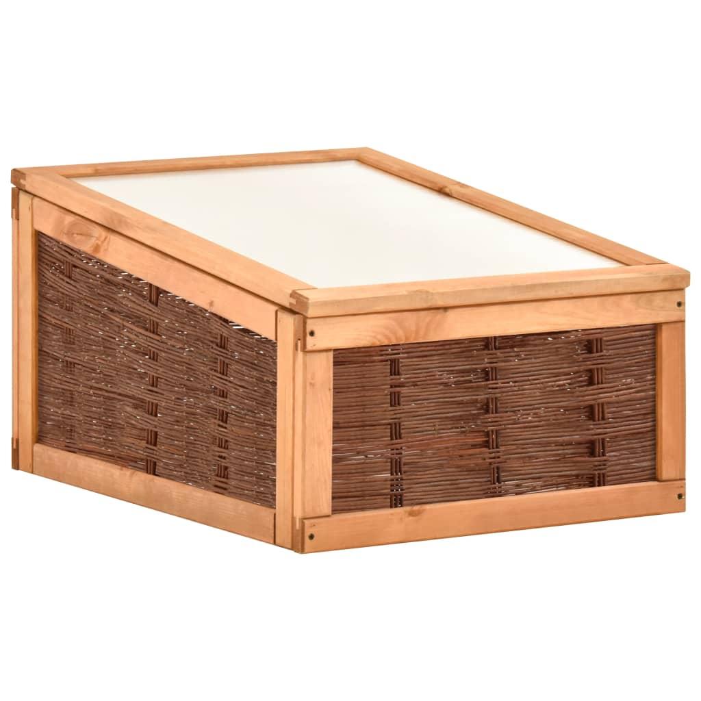 vidaXL Skleník 60x80x45 cm masívne borovicové drevo a vŕba