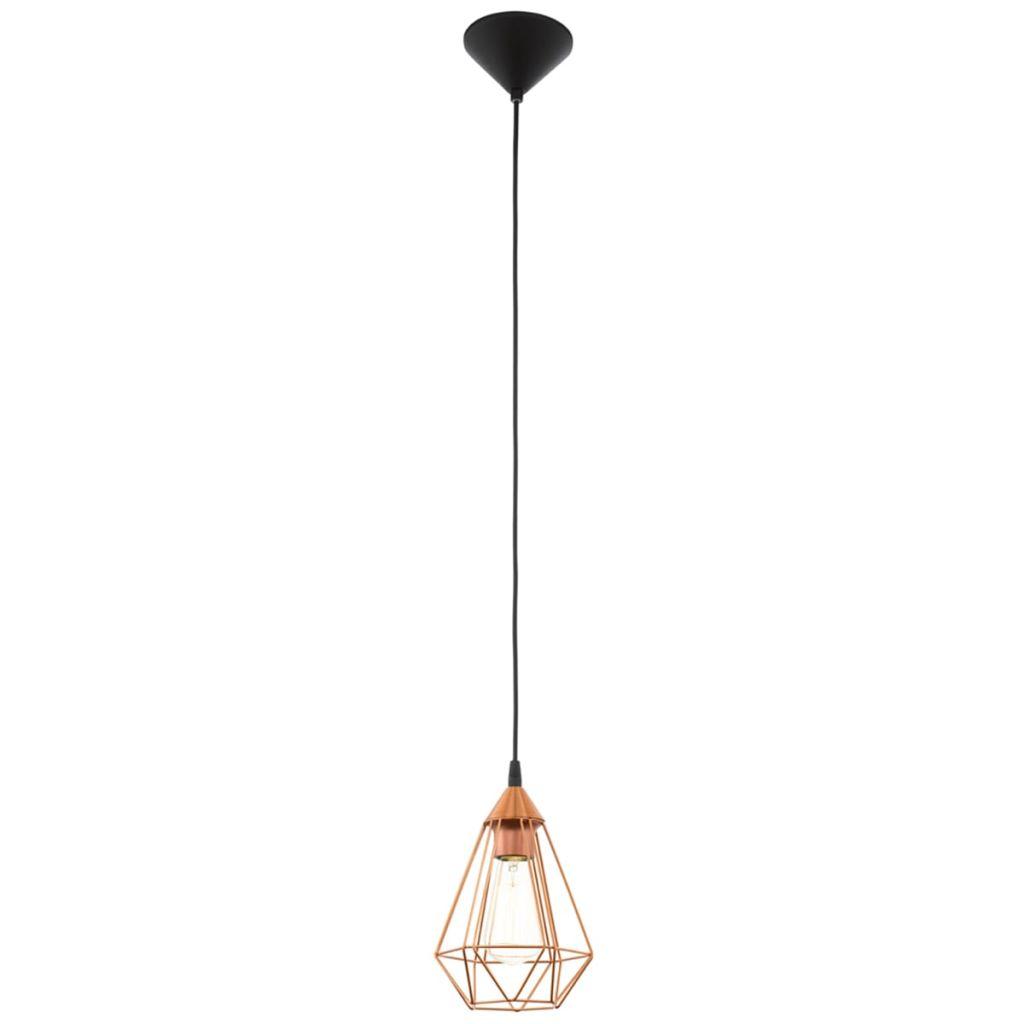 Závesná lampa medenej farby Tarbes EGLO 94193 s priemerom 17,5 cm