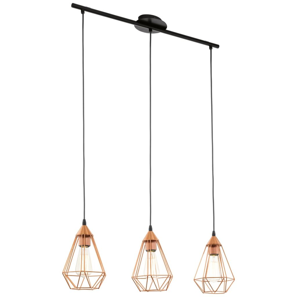 Závesná lampa medenej farby Tarbes EGLO 94195 79 cm