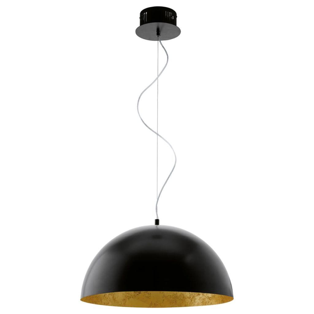 EGLO LED luster Gaetano čierny/zlatý 94228