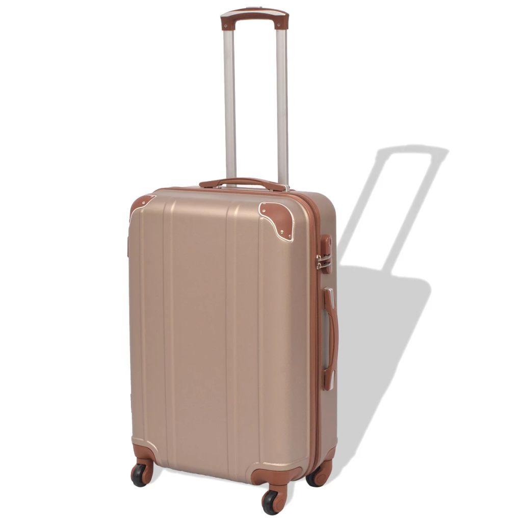 839c2648bb620 vidaXL Sada 4 cestovných kufrov z tvrdým krytom, farba šampanského