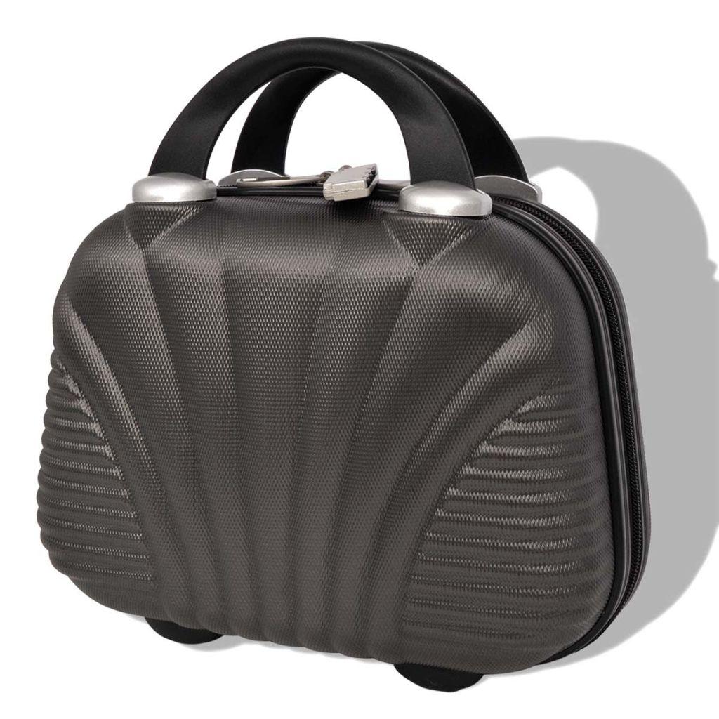 5a08957525668 vidaXL Sada 4 cestovných kufrov z tvrdým krytom, antracitová