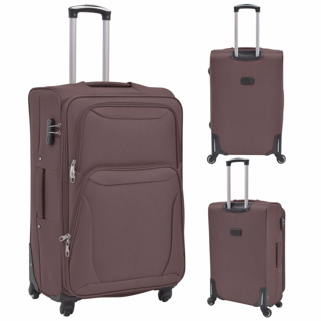 3cd69b6dbbb15 vidaXL Sada 3 cestovných kufrov, kávová