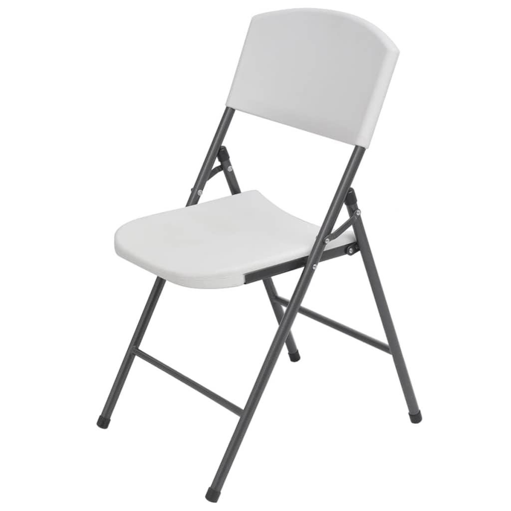 d56344e53fed vidaXL Skladacie záhradné stoličky z HDPE