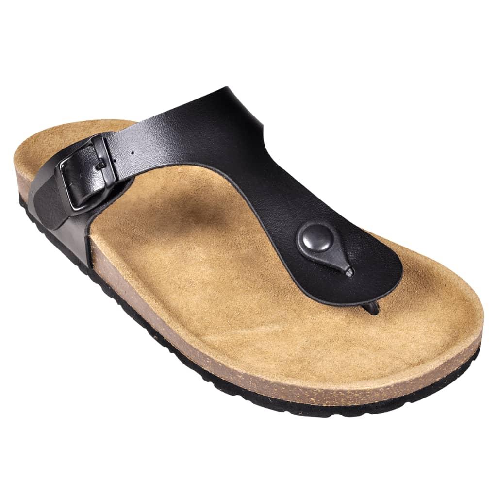 Čierne unisex korkové sandále v dizajne Flip Flop 193bbcab605
