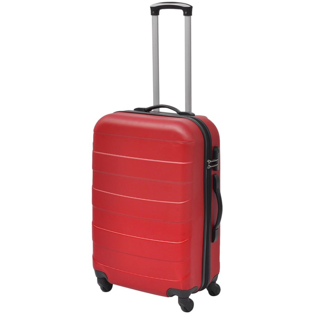 b2bcb56f96c0d Sada troch červených cestovných kufrov na kolieskach vidaXL