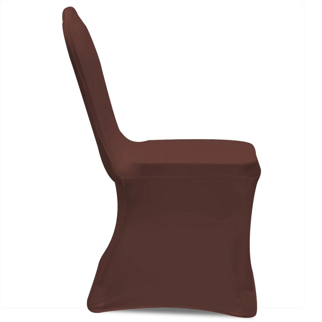 5fe607b948998 vidaXL Naťahovací návlek na stoličku, 4 ks, hnedý